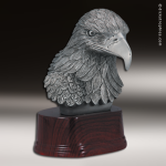 Premium Resin Silver American Eagle Bust Trophy Award Premium Silver Resin Trophies
