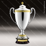Cup Trophy Premium Silver Series Gold Accented Italian Loving Cup Award Premium Silver Series Cup Trophy Awards