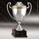 Cup Trophy Premium Silver Series Gold Accented Loving Cup Award Premium Silver Series Cup Trophy Awards