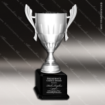Cup Trophy Premium Silver Metal Black Base Weave Design Trophy Award Premium Silver Series Cup Trophy Awards