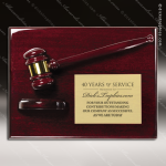 Engraved Rosewood Plaque Gavel Mounted Gold Plate Wall Plaque Award Presidents Gavel Plaques