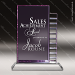 Crystal Purple Accented Zona Morado Trophy Award Purple Accented Crystal Awards