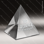 Crystal  Pyramid Trophy Award Pyramid Shaped Crystal Awards