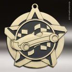 Medallion Super Star Series Pinewood Derby Medal Racing Pinewood Derby Medals