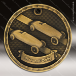 Medallion 3D Series Pinewood Derby Medal Racing Pinewood Derby Medals
