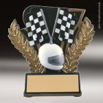 Kids Resin Midnight Wreath Series Racing Trophy Awards Racing Pinewood Derby Trophy Awards