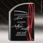 Acrylic Red Accented Wave Vapor Trophy Award Red Accented Acrylic Awards