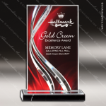 Acrylic Red Accented Illusion Series Rectangle Trophy Award Red Accented Acrylic Awards