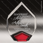 Acrylic Red Accented Marquis Diamond Trophy Award Red Accented Acrylic Awards