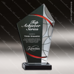 Acrylic Red Accented Faceted Art Deco Peak Trophy Award Red Accented Acrylic Awards