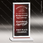 Acrylic Red Accented Mist Rectangle Billboard Trophy Award Red Accented Acrylic Awards
