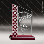 Acrylic Red Accented Zenith Series Peak Trophy Award Red Accented Acrylic Awards