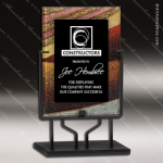 Acrylic Multi-Colored Red Accented Art Plaque Standing Trophy Award Red Accented Acrylic Awards