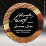 Acrylic Multi-Colored Red Accented Art Plaque Round Trophy Award Red Accented Acrylic Awards