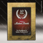 Acrylic Plaque Red Accented Acrylic Wall Placard Award Red Accented Acrylic Awards