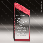Acrylic Red Accented Chiseled Tower Award Red Accented Acrylic Awards