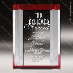 Acrylic Red Accented Channel Mirror Award Red Accented Acrylic Awards