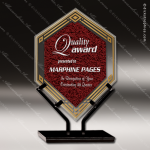 Acrylic Red Accented Infinity Double Diamond Trophy Award Red Accented Acrylic Awards
