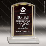Acrylic Red Accented Marbleizedized Arch Trophy Award Red Accented Acrylic Awards