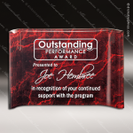 Acrylic Red Accented Marbleizedized Crescent Shape Trophy Award Red Accented Acrylic Awards