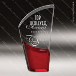 Acrylic Red Accented Lunar Trophy Award Red Accented Acrylic Awards