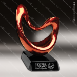 Jaffey Twine Artistic Red Copper Accented Art Resin Sculpture Trophy Award Red Accented Artisitc Awards