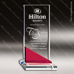 Crystal Red Accented Versatile Rectangle Trophy Award Red Accented Crystal Awards