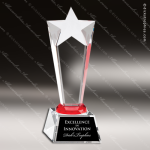 Crystal Red Accented Rising Star Red Accented Crystal Awards