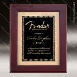 Engraved Rosewood Plaque Framed Black Plate Gold Border Wall Placard Award Religious Awards