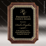 Engraved Walnut Plaque Black Scalloped Plate Wall Placard Award Religious Awards