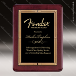Engraved Rosewood Plaque Black Plate Gold Border Wall Placard Award Religious Awards