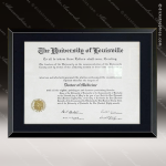Engraved Black Plaque Framed Glass Insert Certificate or Photo Wall Placard Religious Awards