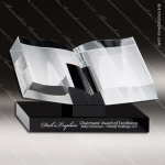 Crystal Black Accented Book Or Religious Bible Trophy Award Religious Awards