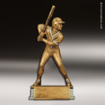 Kids Resin Antique Gold Series Baseball Male Trophies Awards Resin Sculpture Trophies