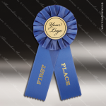 Rosette Award Ribbons Blue 1st Place with 2 Insert You Logo Holder Rosette Award Ribbons