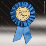 Rosette Award Ribbons Blue with 2 Insert You Logo Holder Rosette Award Ribbons