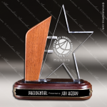 Acrylic Wood Accented Emerging Star Trophy Award Rosewood Accented Acrylic Awards