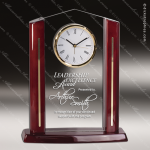 Engraved Rosewood Desk Clock Acrylic Cathedral Gold Accented Award Rosewood Accented Acrylic Awards