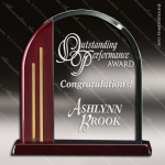 Acrylic  Rosewood Accented Arch Award Rosewood Accented Acrylic Awards