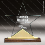 Acrylic  Walnut Accented Star Constellation Award Rosewood Accented Acrylic Awards