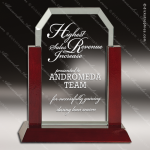 Jackson Clip Glass Rosewood Accented Rectangle Trophy Award Rosewood Accented Glass Awards