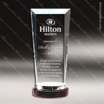Glass Rosewood Accented Premium Rectangle Series Trophy Award Rosewood Accented Glass Awards