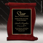 Engraved Rosewood Plaque Piano Finish Scroll Award Rosewood Piano Finish Plaques