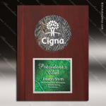 Engraved Rosewood Plaque Silver Opaline Insert Award Rosewood Piano Finish Plaques