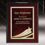 Engraved Rosewood Plaque Red Star Comet Award Rosewood Piano Finish Plaques