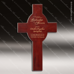 Engraved Rosewood Plaque Religious Cross Award Rosewood Piano Finish Plaques