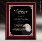Engraved Rosewood Plaque Eagle Head Black Plate Award Rosewood Piano Finish Plaques