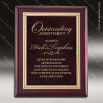 Engraved Rosewood Plaque Red Ruby Marble Plate Gold Border Rosewood Piano Finish Plaques
