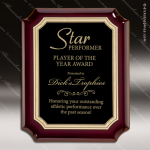 Engraved Rosewood Plaque Black Notched Plate Gold Florentine Wall Placard A Rosewood Piano Finish Plaques