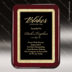 Engraved Rosewood Plaque Black Round Corner Plate Award Rosewood Piano Finish Plaques